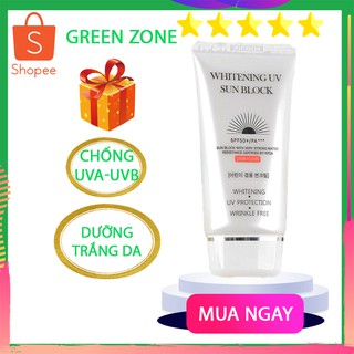 Kem chống nắng hàn quốc, kem chống nắng dưỡng trắng, che khuyết điểm JigotT Whitening UV SunBlock SPF50+/PA+++