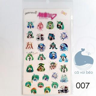 Sticker Miku Vocaloid miếng dán trong suốt