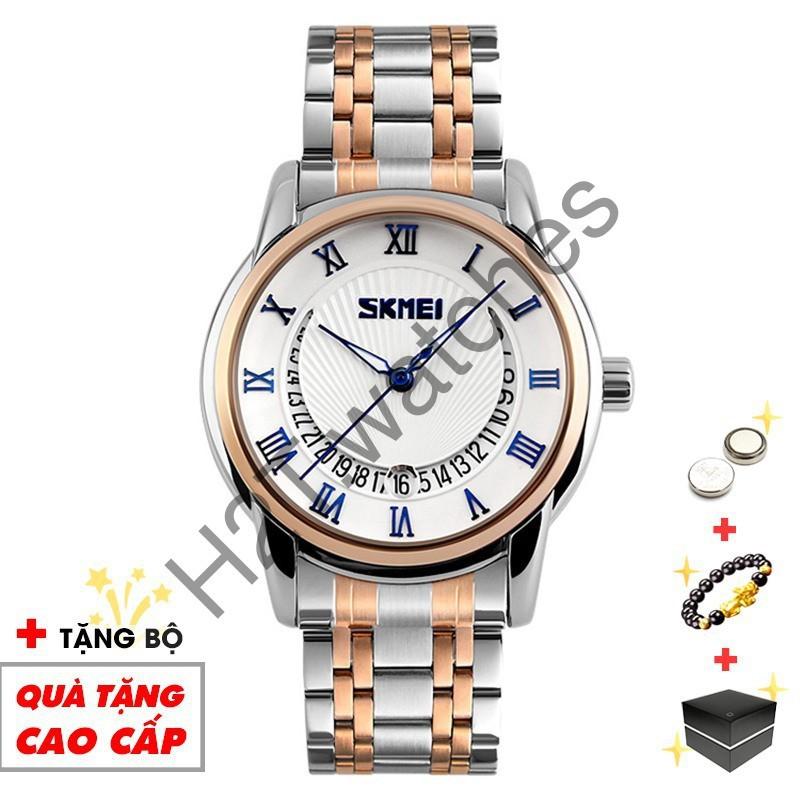 [Mã WTCHFEB giảm 20K ] Đồng hồ nam SKMEI chính hãng cao cấp dây thép không gỉ SME08 - Boss