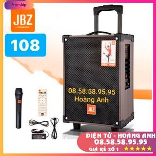 Loa kéo Jbz - 108 và JBZ - 0804 Bass 2 tấc - ( tặng 1 micro không dây ) Kèm sạc  dây tín hiệu tivi