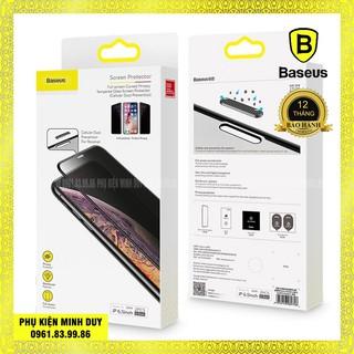 (Bộ 2 miếng) Kính cường lực chống nhìn trộm, chống bụi màng loa Baseus cho iphone X/Xs/11 Pro, Xs Max/11 Pro Max… 🍀