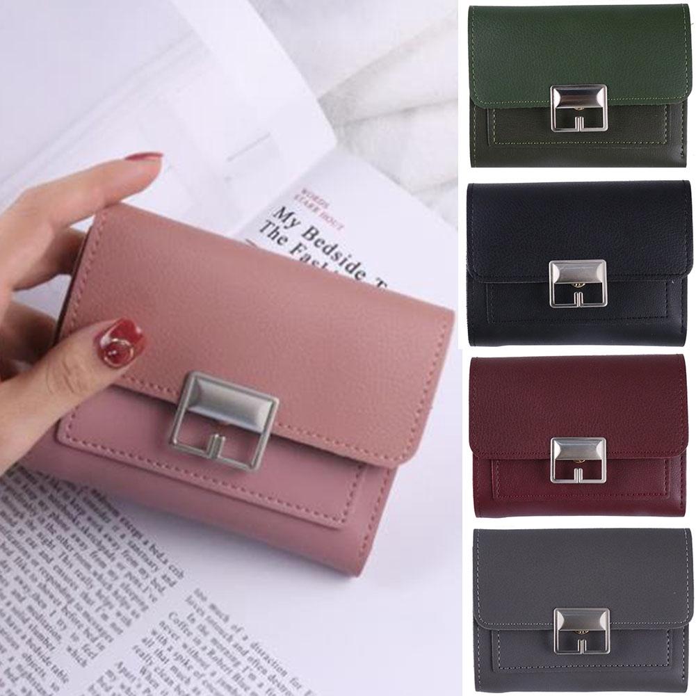 ID Card Organizer Waterproof Casual PU Leather Gift Short Multifunctional Flip Small Women Wallet