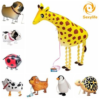 SL♣ Animal 1pcs Walking Pet Dog Foil Balloons Animal print balloon Party Decoration Children Toys DY