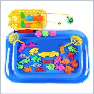 Hotsale Bộ đồ chơi câu cá kèm bể phao cho bé ( 21 con vật) hỗ trợ tối đa