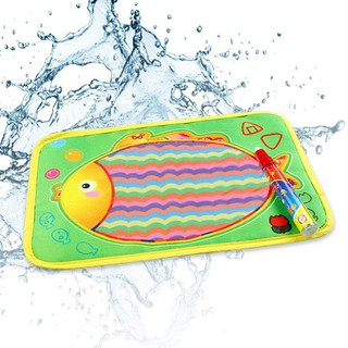 Water Drawing Painting Writing Mat Board & Magic Pen Doodle Toy Gift