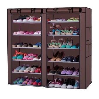 Tủ vải để giầy dép đa năng 6 tầng 12 ngăn BQ4-NAU ( Nâu )