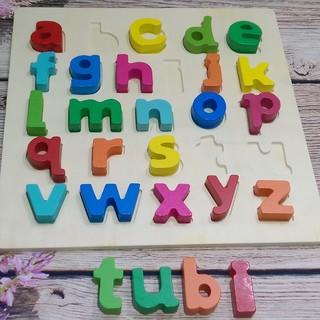 Bảng chữ thường tiếng Anh nổi, hình vuông