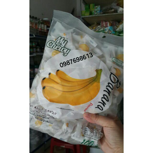 Kẹo dẻo sữa vị chuối Thái 100v