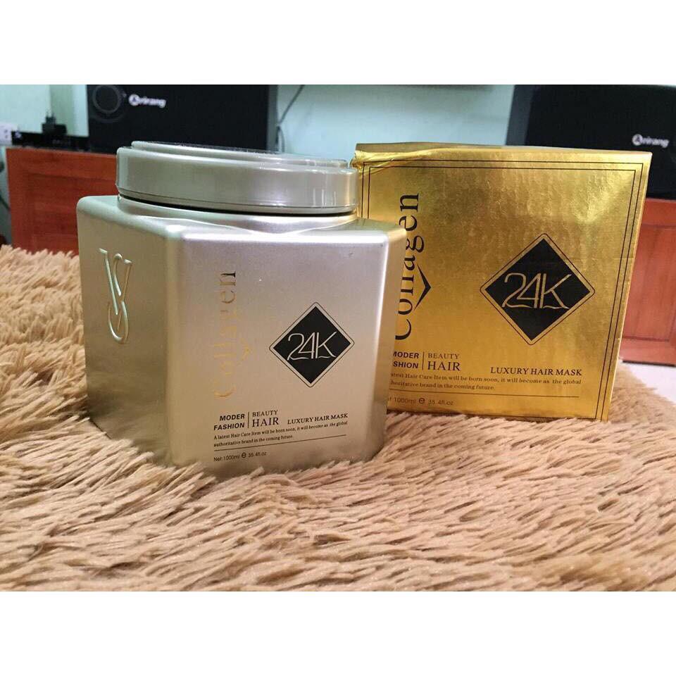 ⛔GIADUNGHOANGMAI⛔ Kem hấp dầu và ủ dưỡng tóc 24K Collagen