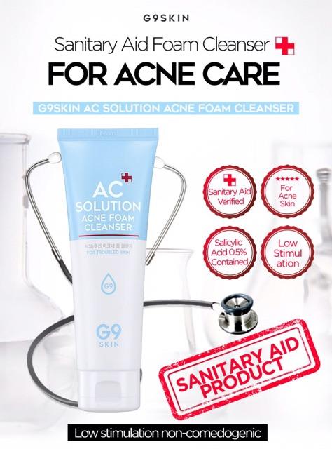 Kết quả hình ảnh cho sữa rửa mặt g9 skin solution skin foam cleanser