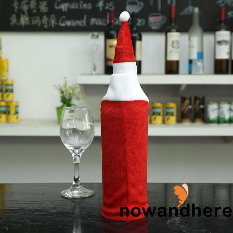 NWV-Christmas Wine Bottle Cover Christmas Gift Santa Claus Plush Toys Ornament