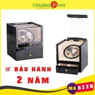 Hộp Đựng Đồng Hồ Cơ 2 Xoay + 2 Tĩnh Vỏ Gỗ Sơn Mài - Mã 822B thumbnail