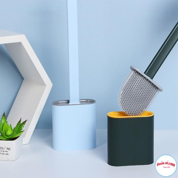 Cọ Vệ Sinh Toilet Bằng Silicon Tiện Dụng Siêu Sạch Kèm Hộp Đựng – Tặng Kèm 2 Miếng Dán 00990