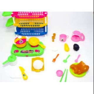 Túi đồ chơi nhà bếp 3 ngăn