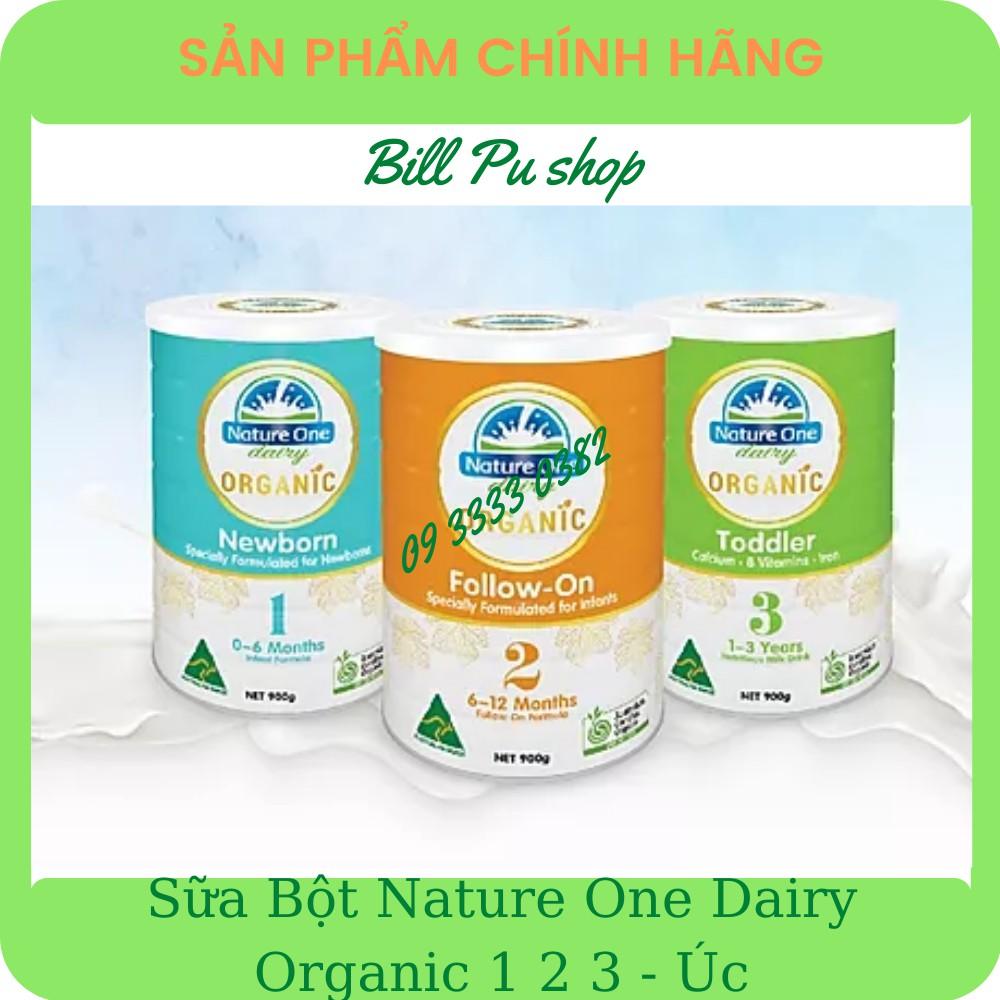 Sữa Bột NATURE ONE DAIRY ORGANIC 1 2 3 hộp 900G - Úc [Date 11/2021 - 02/2022]