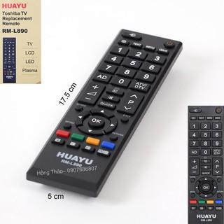 [Mã ELFLASH5 giảm 20K đơn 50K] Remote Tivi Toshiba Huayu RM L890 có hộp