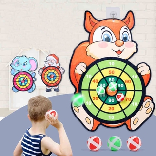 Dart Board With 6 Sticky Balls Cloth Safety Sticky Balls Darts Throwing Toy For Children Sport Toys thumbnail