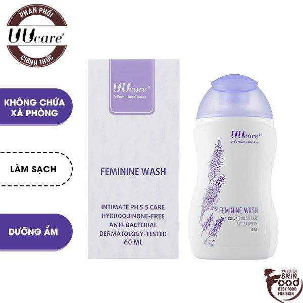 Dung Dịch Vệ Sinh Phụ Nữ Dạng Gel Tinh Chất Hoa Oải Hương UUcare Feminine Wash [che tên sản phẩm khi giao hàng]