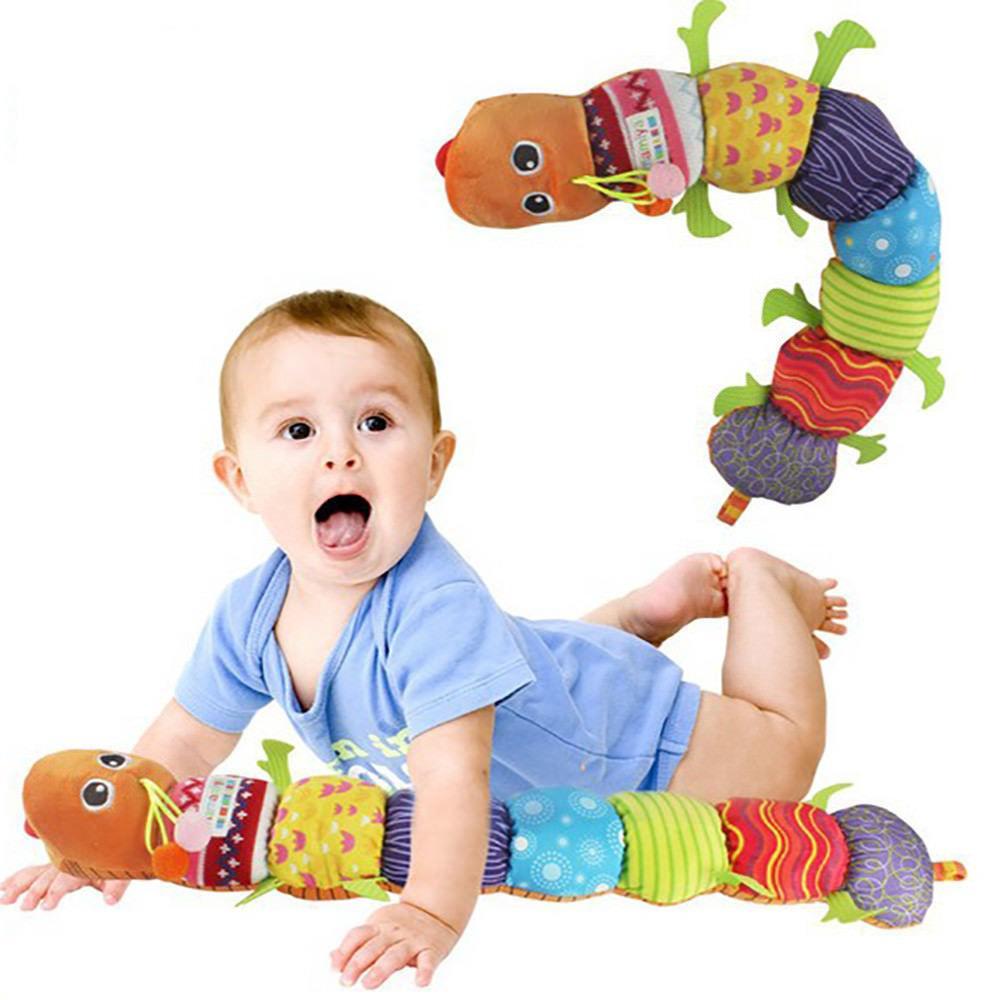 LAMAZE Stuffed Caterpillar Hand Bell Musical Educational Inchworm Toy