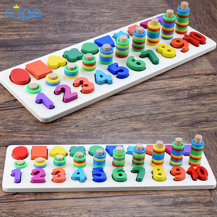 Đồ chơi toán học và hình khối 3 trong 1 cho bé học tập vui chơi