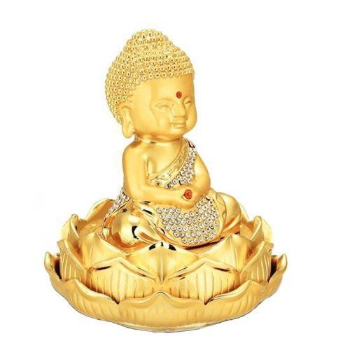 Tượng Phật Ngự Đài Sen Đính Đá Để Taplo Ô Tô
