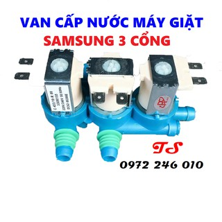 Van cấp nước máy giặt samsung 3 cổng [FREESHIP] Van điện từ máy giặt Samsung 3 cổng