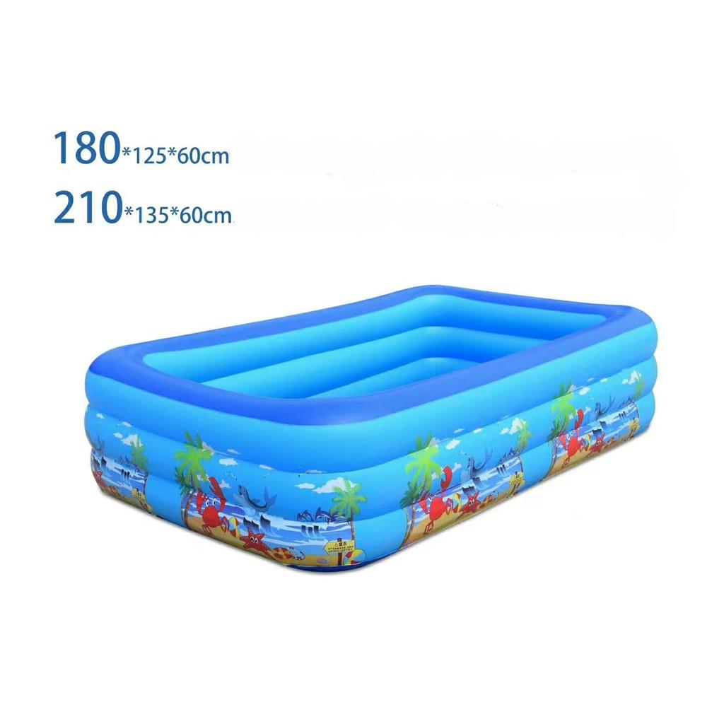 Bể bơi phao bơi cho bé 2 tầng 3 tầng có đáy chống trượt đủ size