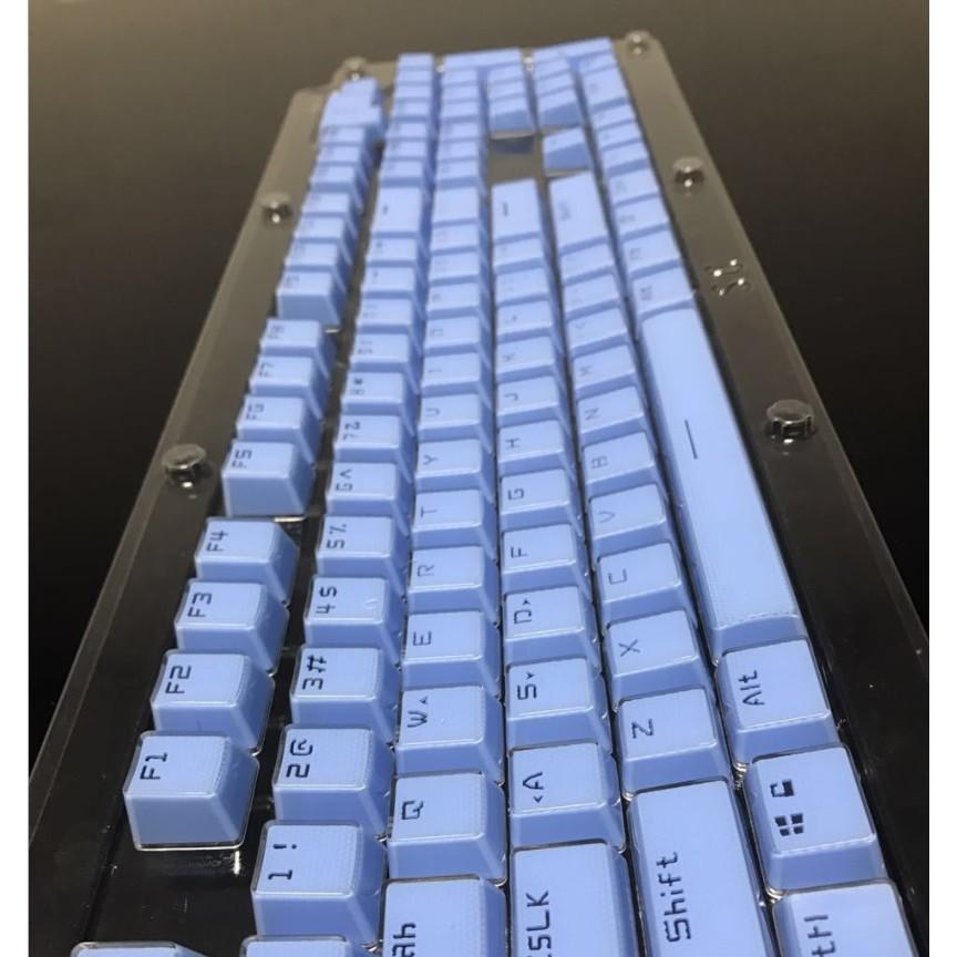 Bộ keycap Crystal Double Shot ( 104 phím ) Bộ Nút Phím Cơ Bọc Nhựa Trong Suốt