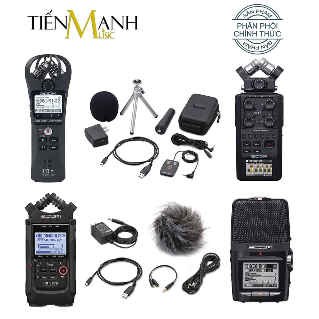Bộ Máy Thu Ghi Âm Mic Zoom H1N, H2N, H4N-Pro Black, H6 Black - Thiết bị thu âm cầm tay kỹ thuật số Microphone Stereo