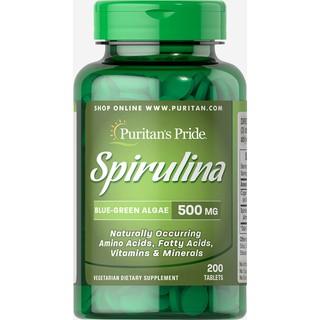 Tảo xoắn Spirulina thải độc - tăng cường miễn dịch, chống lão hóa làm đẹp da Puritan s Pride- Spirulina 500mg 200 viên thumbnail