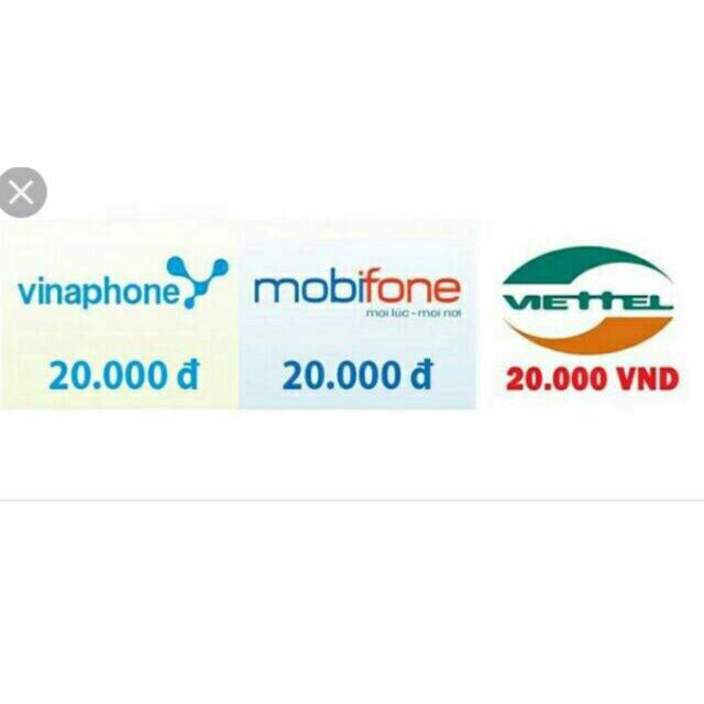 Mã thẻ Vina, Mobi, Viette