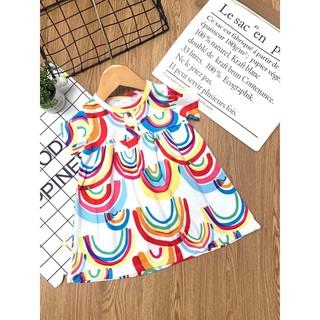 Đầm ngắn tay thun cotton borip cực xinh cho bé gái từ 10 đến 23kg - Đầm váy bé gái