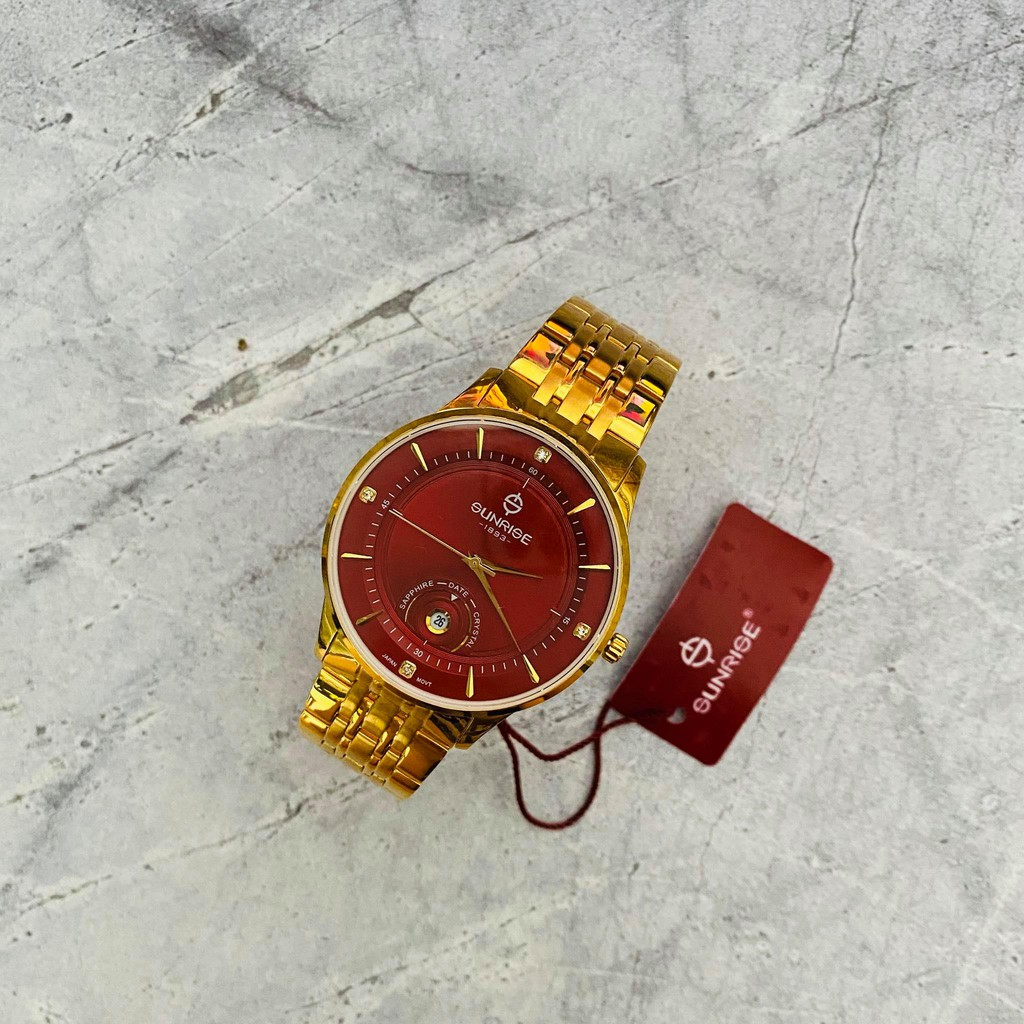 Đồng hồ Sunrise Nam chính hãng Nhật Bản M1123.SA.G.DD - kính saphire chống trầy - bả
