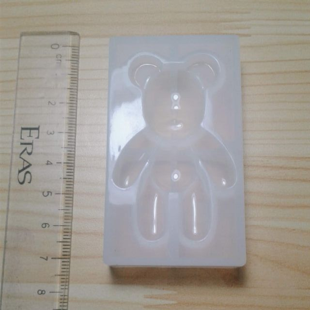 Khuôn silicone hình gấu đổ resin