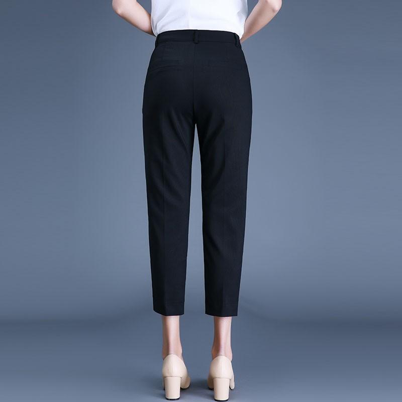 Mặc gì đẹp: Sang trọng với Quần tây baggy nữ lưng cao Madela, Baggy nữ công sở basic kiểu: Quần Tây Đen - QBG102