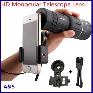 16×52 HD Monocular Telescope Lens Focus Prism Scope with Night Universal Smartphone Mount Tripod Fog Compact 16X Zoom