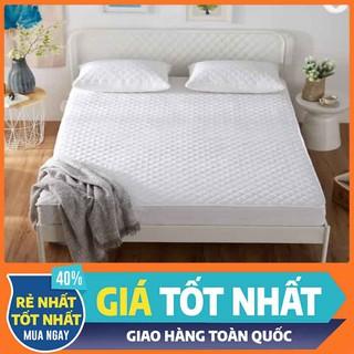 TOPPER NỆM [FREESHIP] Tấm bảo vệ đệm chống thấm 3 lớp cao cấp màu trắng dày 1cm dành cho khách sạn 5 sao