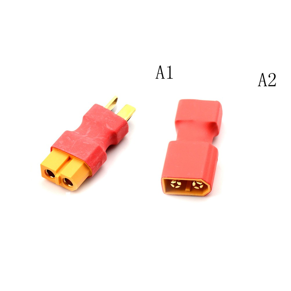 T Male to XT60 Male Plug to XT60 Female Adapter For RC LiPo Battery Plug
