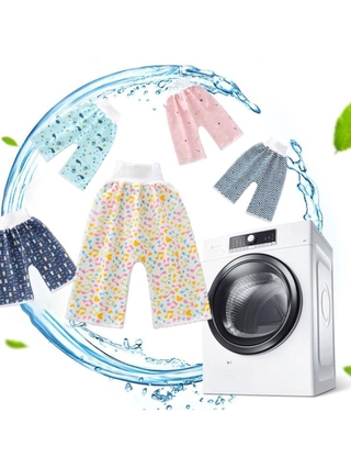Comfy Child Diaper Skirt Shorts 2 in 1 Washable Cotton Potty Training Nappy Pant