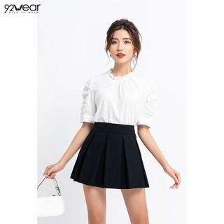 Chân váy chữ A ngắn 92WEAR đủ màu, đủ size, xếp ly JXN0002 thumbnail