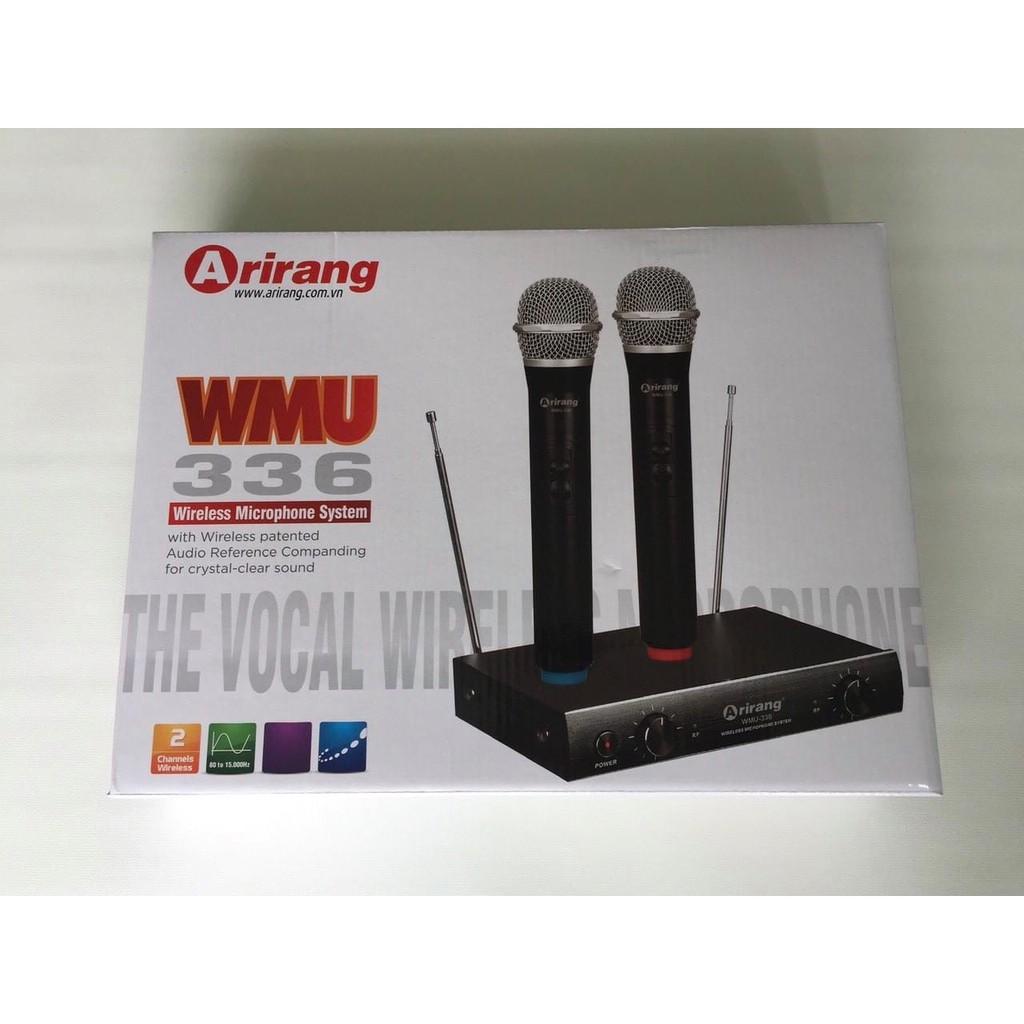 Mic Karaoke chuyên nghiệp - Micro không dây Ariranglife WMU 336 bảo hành toàn quốc