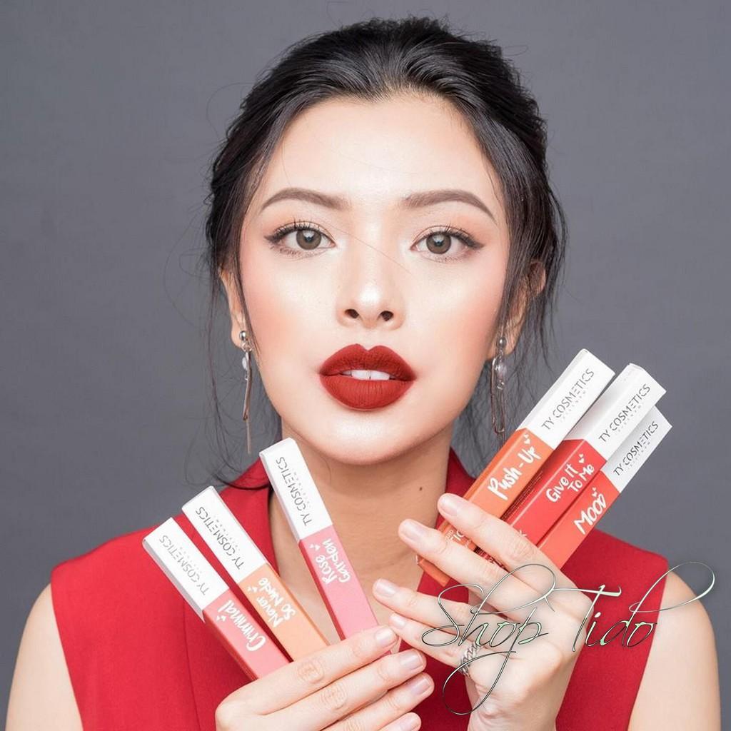 [Mẫu Mới 2018-12 Màu] Son TY Cosmetics Matte Lip Cream  + FULL QUÀ