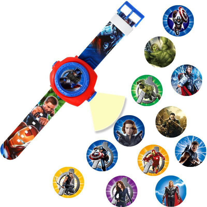 ☀Sunnyday☀ Children lovely cartoon anime projection watch gift toys