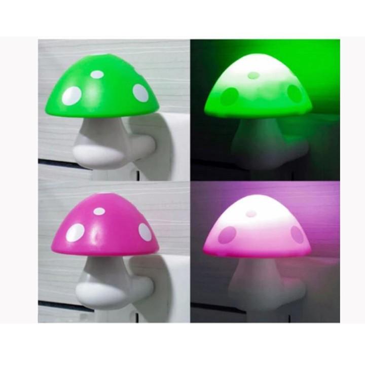 Đèn ngủ hình cây nấm tự động sáng - Giao màu ngẫu nhiên