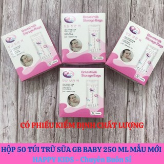 Hộp 50 túi trữ sữa GB Baby Hàn Quốc 250ml mẫu mới