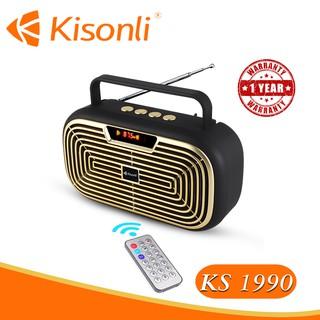 [HÀNG MỚI VỀ] Loa Kisonli Bluetooth KS-1990 _ Loa kiểu dáng Radio mới lạ