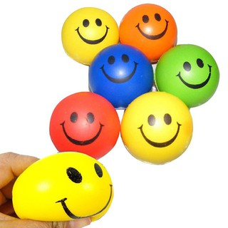 Happy Smiley Face Stress Relief foam Bouncy Squeeze Ball Toys