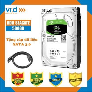 Ổ cứng 500GB Seagate Barracuda - Tặng cáp Sata 3.0  Hàng tháo máy đồng bộ nhập khẩu mới 98% - bảo hành 3T