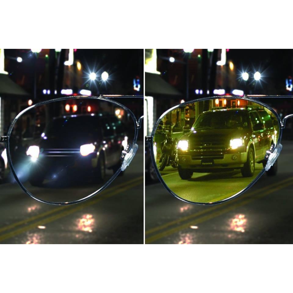 Mới! Kính nhìn xuyên đêm - Tặng kèm bao da - Kính Night View Glasses