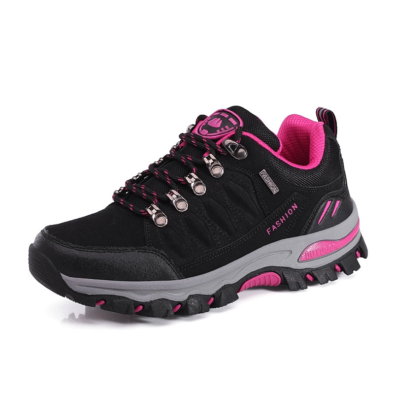 Couple Outdoor Hiking Shoes Comfortable Breathable Low-top Shoes